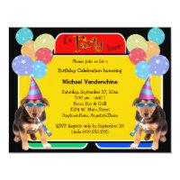 German Shepherd Puppy Birthday Barker Card