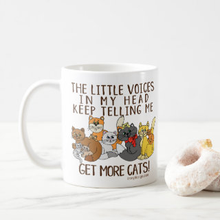 Get More Cats Funny Saying Coffee Mug