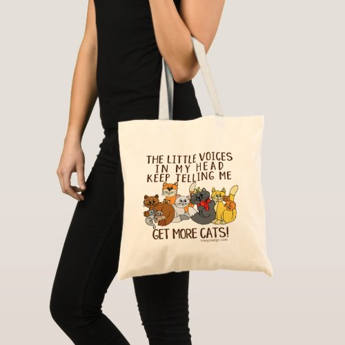 Get More Cats Funny Saying Tote Bag