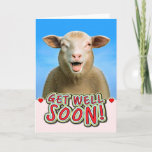 Funny Sheep Get Well Soon Card