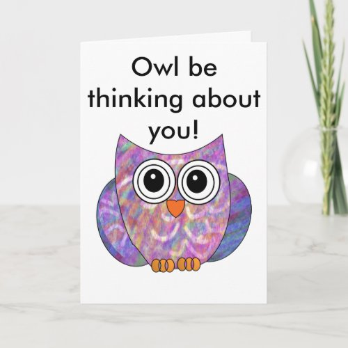 Get Well Soon Owl Card