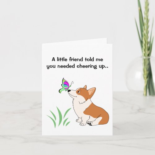 Get Well Welsh Corgi Note Cards