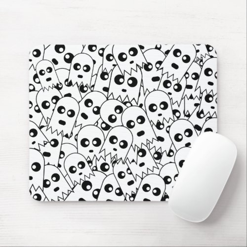 Ghost Pattern Mousepad BW mousepad