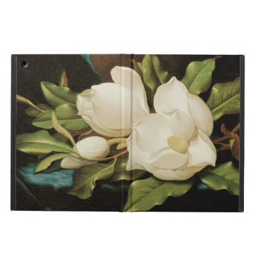 Giant Magnolias on a Blue Velvet Cloth by MJ Heade Case For iPad Air