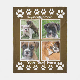 Gifts for a Dog Lover - Custom Photo Blankets