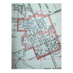 Gilroy, CA Vintage Map Postcard