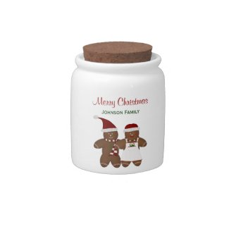 Gingerbread Couple Candy Jar