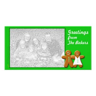 Gingerbread Photo Card Template (couple) photocard