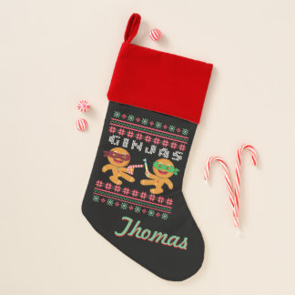 Ginjas Gingerbread Men Ugly Christmas Sweater Christmas Stocking