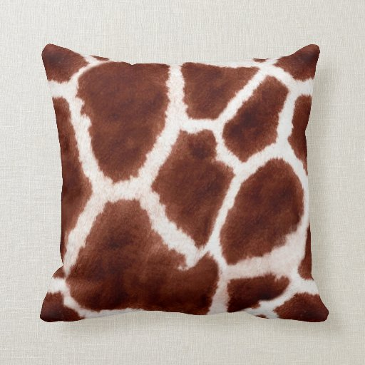 Giraffe Pattern Animal Print Throw Pillow  Zazzle