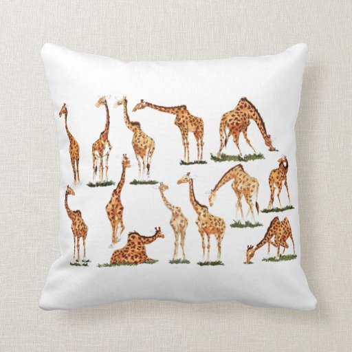 GIRAFFE POLYESTER THROW PILLOW  Zazzle