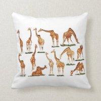 Giraffe Pillows - Decorative & Throw Pillows | Zazzle
