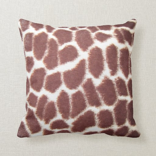 Giraffe Print Throw Pillow  Zazzle