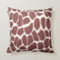 Giraffe Print Throw Pillow | Zazzle