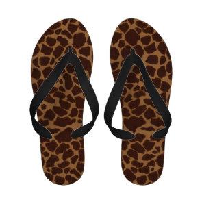 Giraffe Skin Print Pattern Flip-Flops