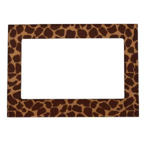 Giraffe Skin Print Pattern Magnetic Frames