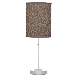 Giraffe Skin Print Pattern Table Lamp