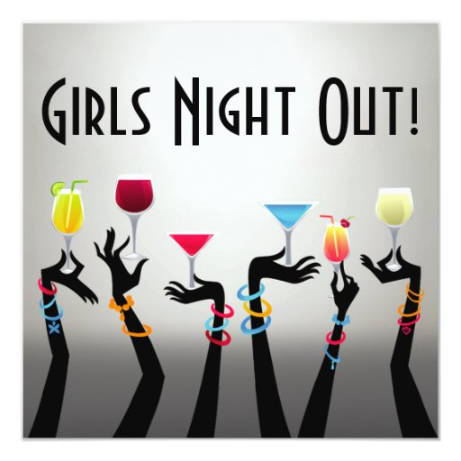 Girls night out cocktail party invitation zazzle
