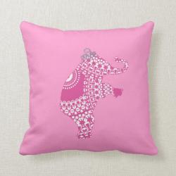 Girl's Pink Princess Cute Elephant American MoJo P Pillow