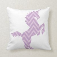 Girls Reversible Purple Unicorn Pillow Pillows | Zazzle