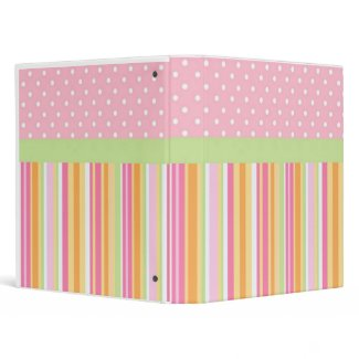 Girly Binder binder