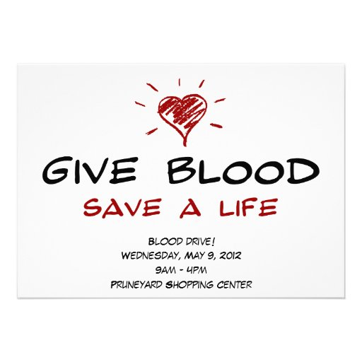 Give Blood Save A Life Blood Drive Template 5