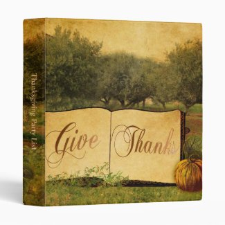 Give Thanks 3 Ring Binder