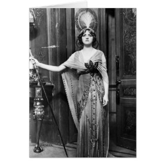 Gladys Cooper [1888-1971] in Fancy Dress Greeting Card