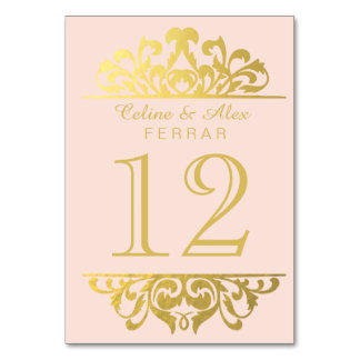 Pink Table Cards Amp Place Cards Zazzle