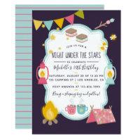 Glamping Birthday Party Invitation