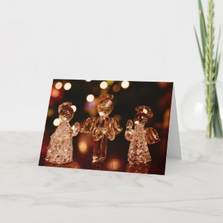Glass Christmas Angels Greeting Card
