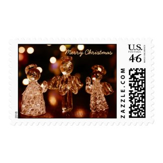 Glass Christmas Angels Postage Stamps