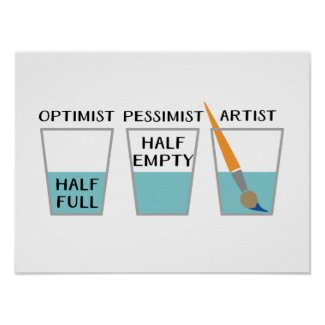 Glass Half Full Funny Meme Poster