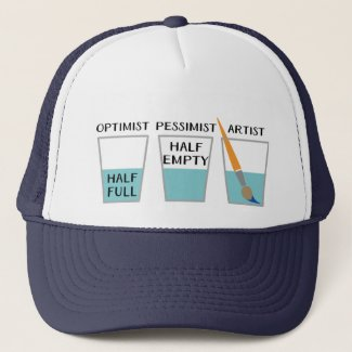 Glass Half Full Funny Meme Trucker Hat
