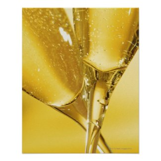Glasses of Champagne Posters