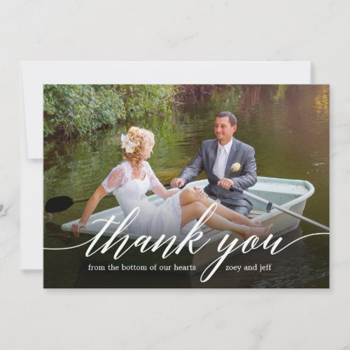 Glided Thanks Photo Thank You Card
