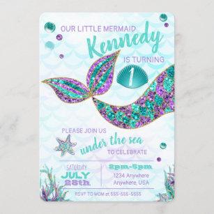 mermaid invitations zazzle