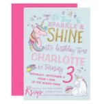Glitter Unicorn Birthday Invitation
