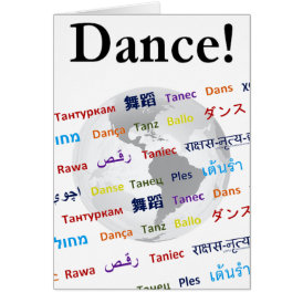 Global Dance - The Global Language (Customizable) Card