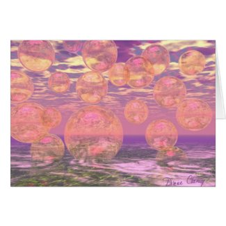 Glorious Skies – Pink and Yellow Dream Greeting Card
