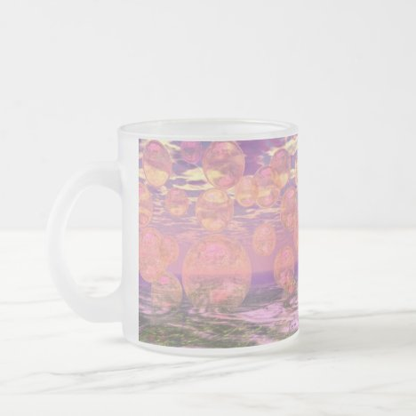 Glorious Skies – Pink and Yellow Dream Frosted Glass Coffee Mug