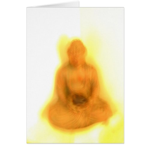 Glowing Buddha card