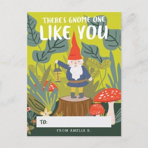 Gnome One Like You Valentine Holiday Postcard