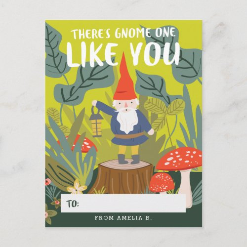 Gnome One Like You Valentine Holiday Postcard