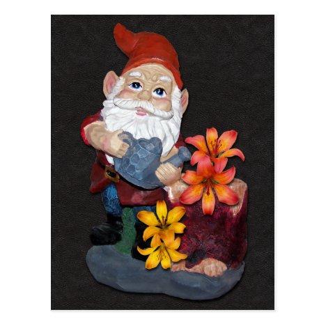 Gnome Photo Design Postcard