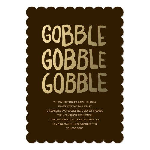 Gobble | Thanksgiving Dinner Invitation