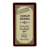 Goblin Brains Label