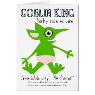 Goblin King Baby Care Service card