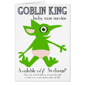Goblin King Baby Care Services card