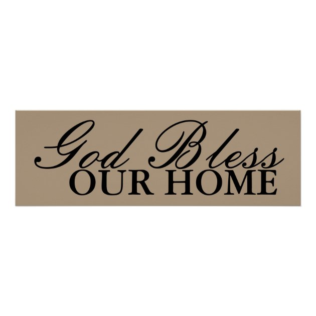 God Bless Our Home Wall Art Decor Zazzle